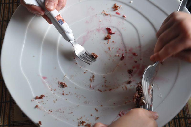 Choc shortcake plate