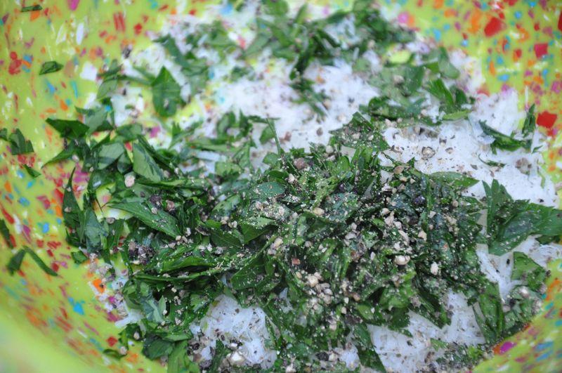 Pecorino, pepper, parsley