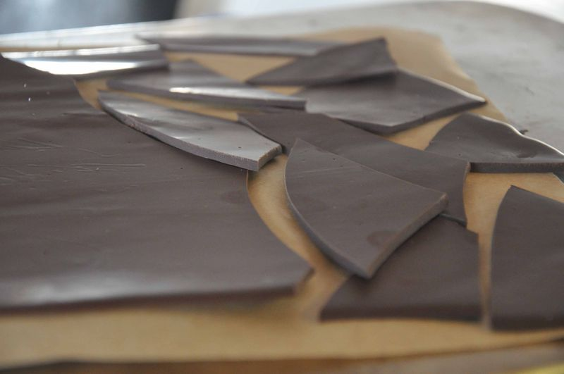 Curried dark chocolate bark