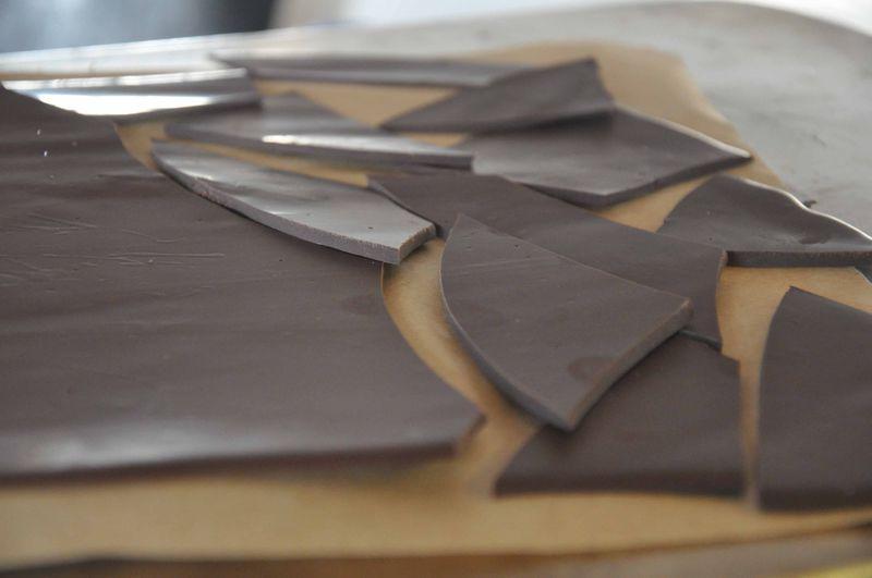 Curried dark chocolate bark