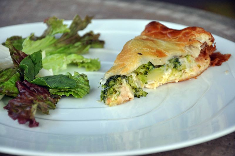 Broccoli-gorgonzola pie
