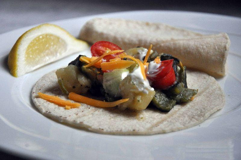 Poblano pepper tacos