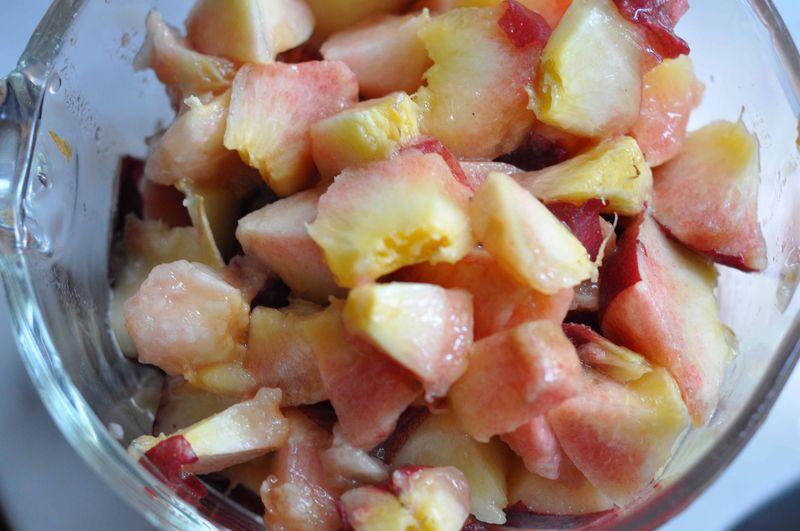 Diced peaches