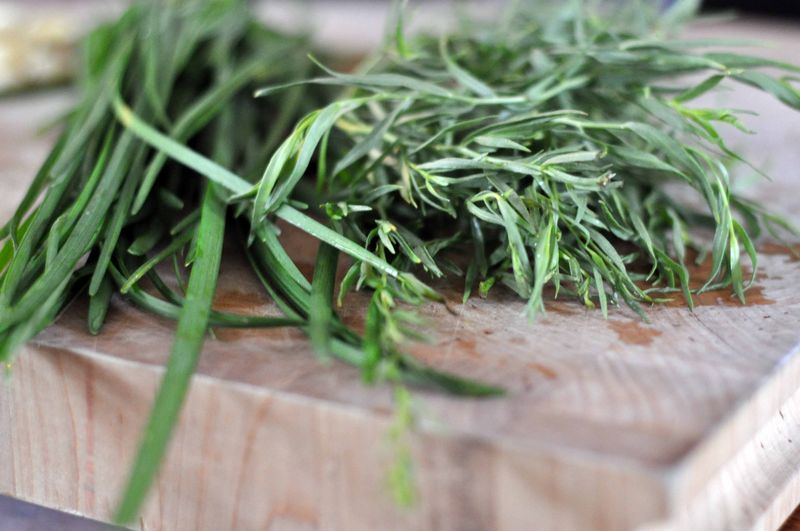 Chives and tarragon