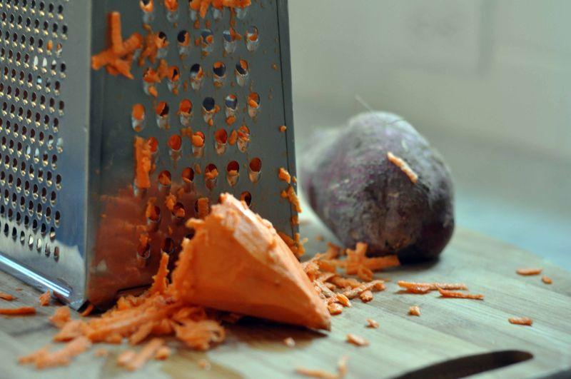 Grated sweet potato