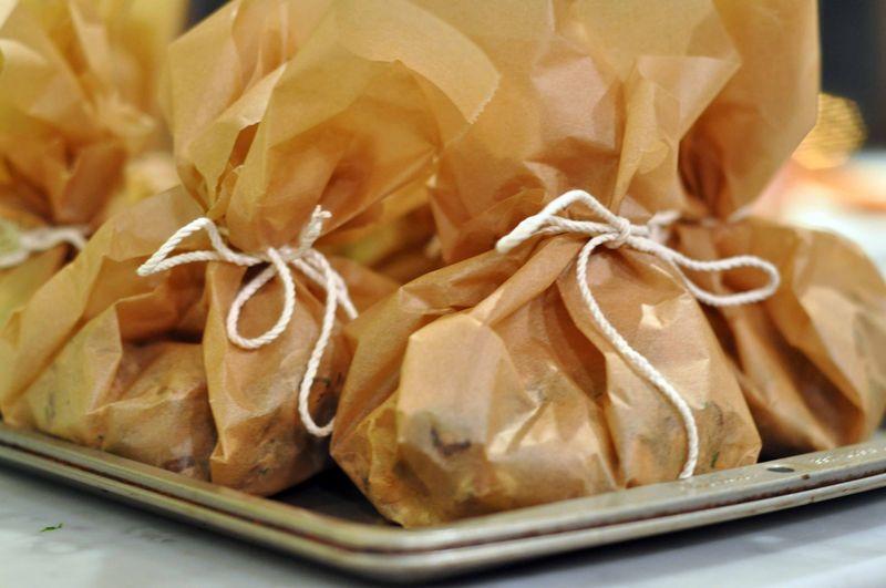 Wild Mushroom and Potato Parcels