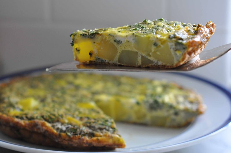 Potato and dill frittata